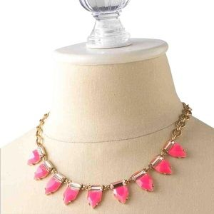 Stella Dot hot pink Eye Candy necklace New